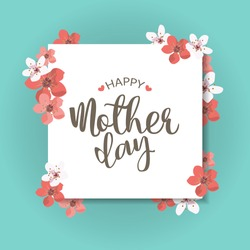 happy mother day, holiday background. can be use for sale advertisement, backdrop. vector