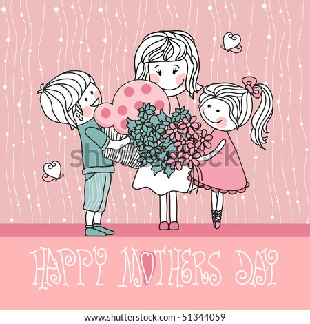 happy mother`s day - stock vector