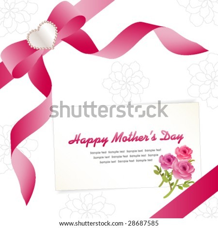 Vector Stock on Happy Mother S Day Card Template Vector   Stock Vector