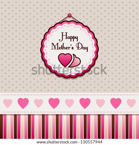 Happy Mother\'s Day, greeting card.