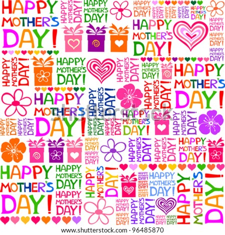 Happy Mother's Day! Seamless pattern. Vector Illustration