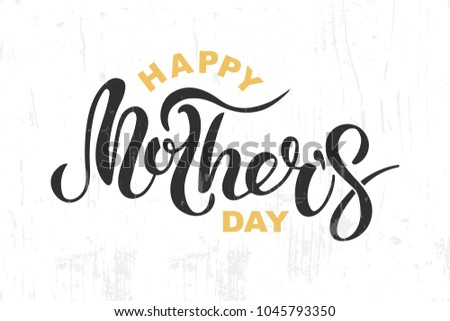 Typographic mothers day poster download free vector art stock