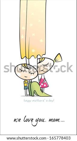 Happy Mother`s day. Vector