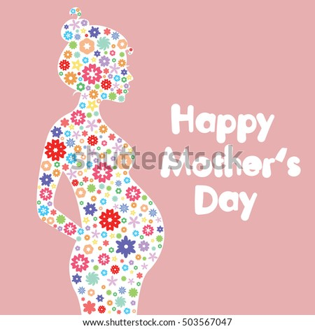 happy mother's day vector card