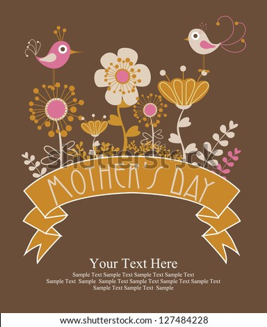 happy mothers day card design vector illustration