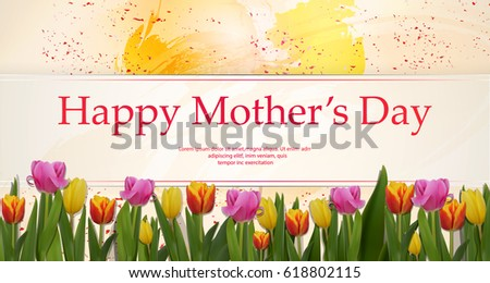 happy mothers day concept hand