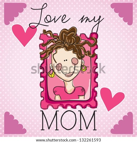 Happy Mothers Day concept, vector illustrator