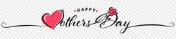 Happy mothers day lettering with heart and flower abstract illustration isolated