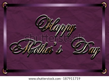 Happy Mothers Day text bordered with ribbons
