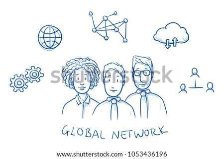 happy multi ethnic business