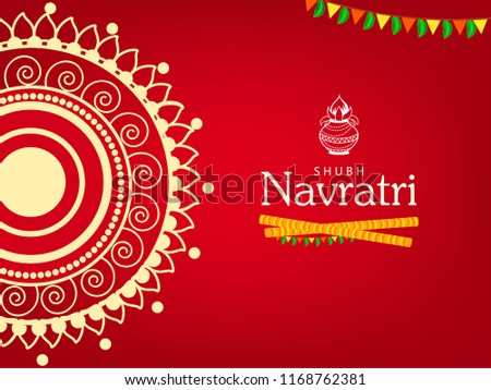 Happy Navratri Festival Design, Traditional Background.