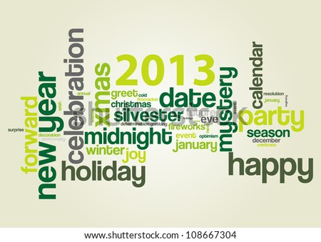 Happy new year 2013! - stock vector
