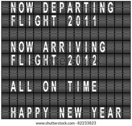 Happy New Year Airport Terminal Background