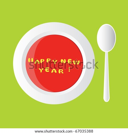 happy new year - alphabet soup