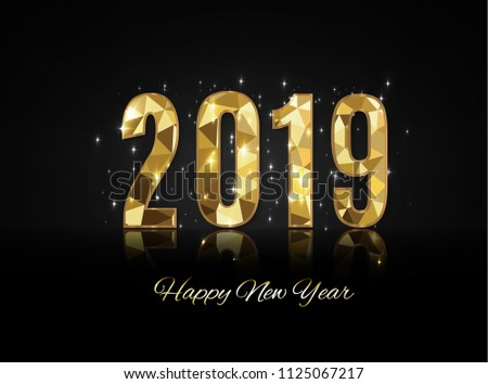 Happy New Year and Merry Christmas 2019 #1125067217