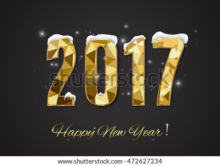 Happy New Year and Merry Christmas 2017 #472627234