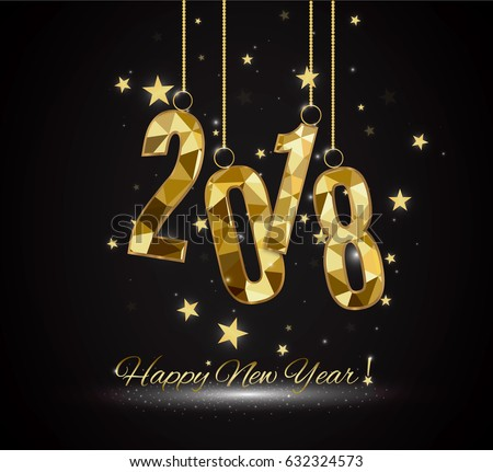Happy New Year and Merry Christmas 2018 #632324573