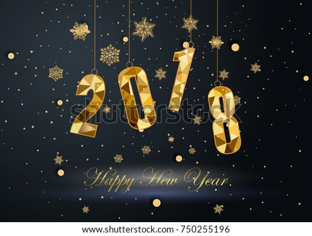 Happy New Year and Merry Christmas 2018 #750255196