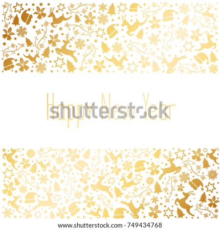 Happy new year 2018 and Merry Christmas, abstract background, vector. #749434768