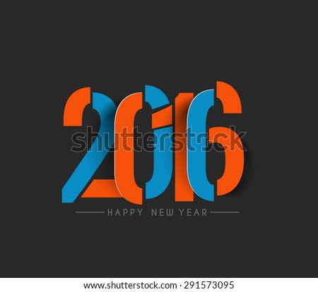 happy new year and 2016 text