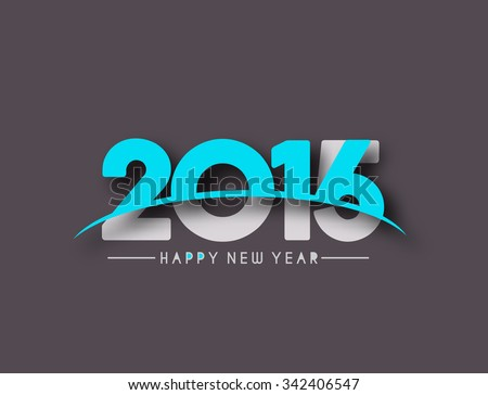 Happy new year 2015 and 2016 Text Design