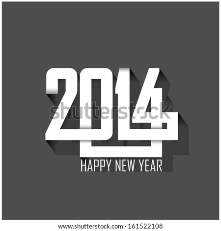 happy new year 2014 background vector illustration