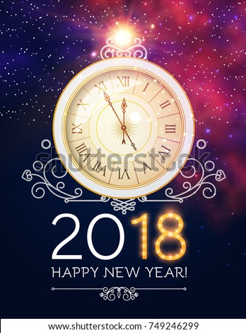happy new 2018 year background