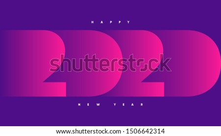 Happy 2020 new year banner for seasonal holidays flyers, greetings and invitations, christmas themed congratulations and cards. Eps10 Vector illustration.