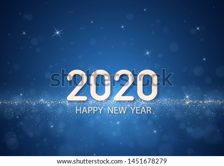 happy new year 2020 banner on