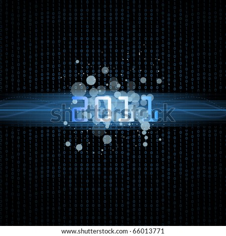 Happy new year.Binary background 2011.Vector illustration.