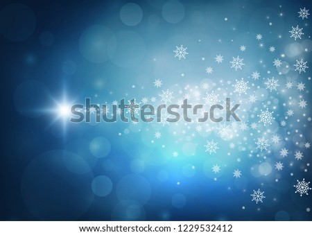 Happy new year 2019 blue color background.. vector illustration