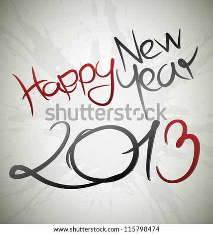 Happy new year 2013 card - stock vector