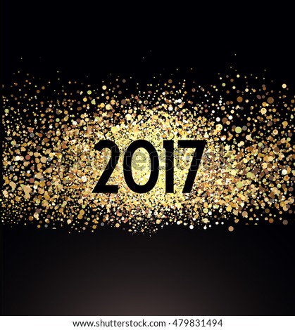 Happy New Year 2017 card  #479831494