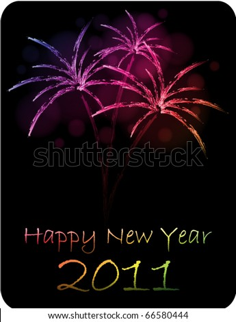 stock vector happy new year card 66580444 - HAPPY NEW YEAR 2011 Cards|Wishes|Warm Welcome New Year|