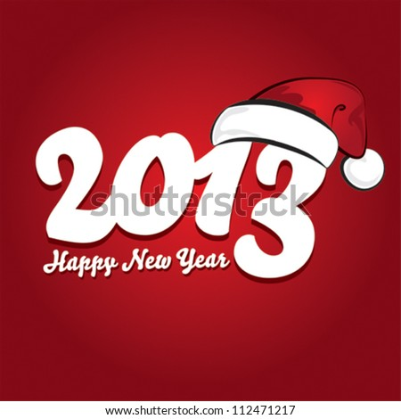 Happy New Year  card design
