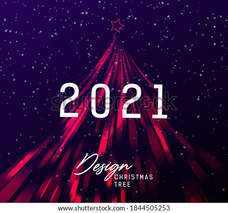 happy new year 2021 card or