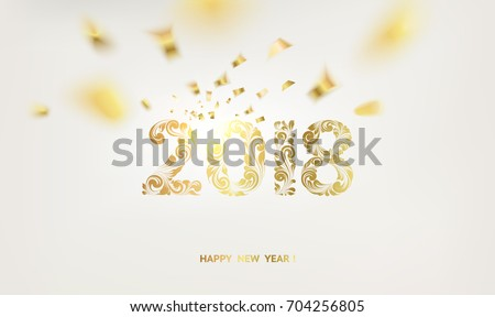 happy new year card over gray