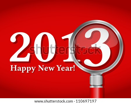 Happy new year card, vector eps10 illustration