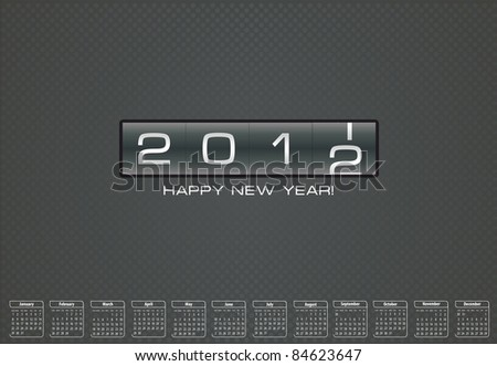 happy new year 2012 cards stock-vector-happy-n