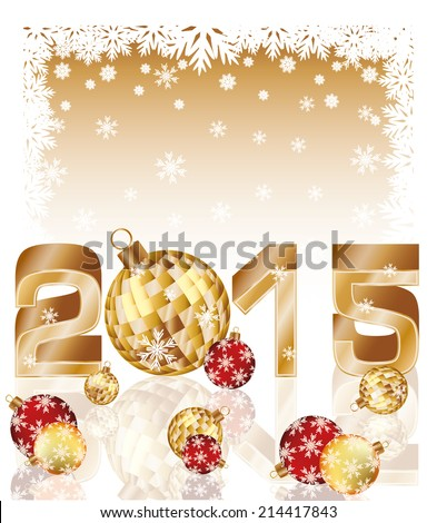 happy new 2015 year card with