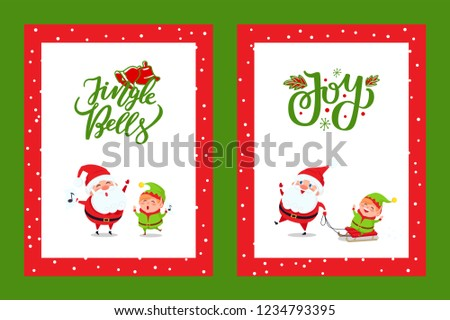 happy new year cards with santa