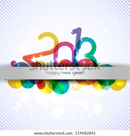 happy new year 2013 celebration background illustration