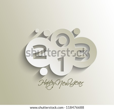 Happy new year celebration greeting card design.