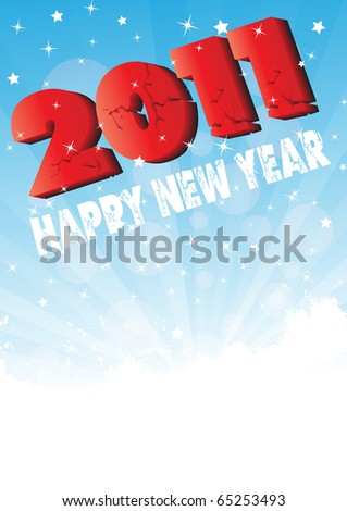 stock vector : Happy New Year 2011. Clip-art