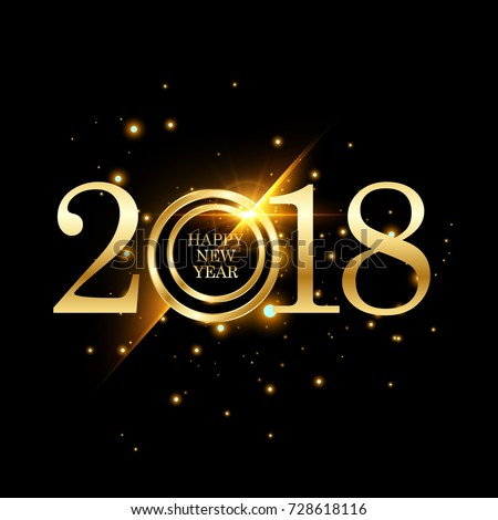 happy new year 2018 colorful