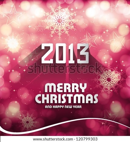 Happy new year 2013 colorful celebration circle wave vector