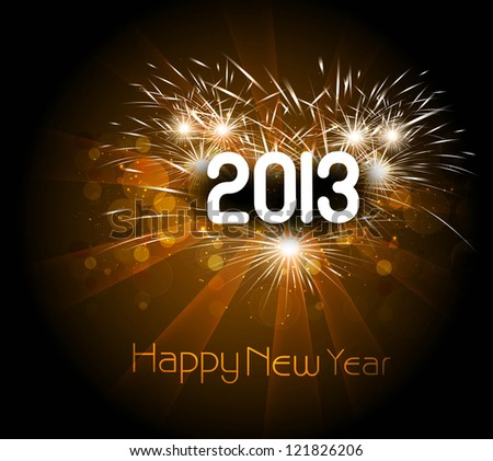 Happy new year 2013 colorful celebration vector background illustration