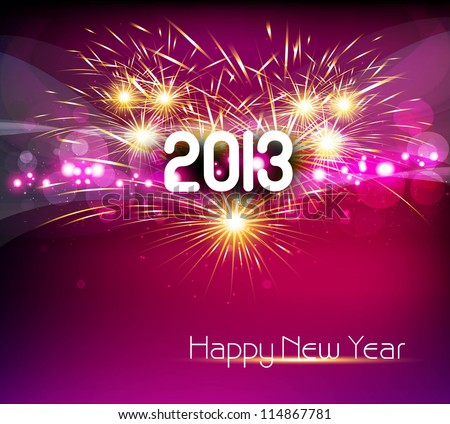 Happy new year 2013 colorful celebration vector design