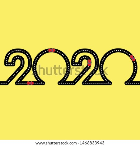 happy new year concept   road