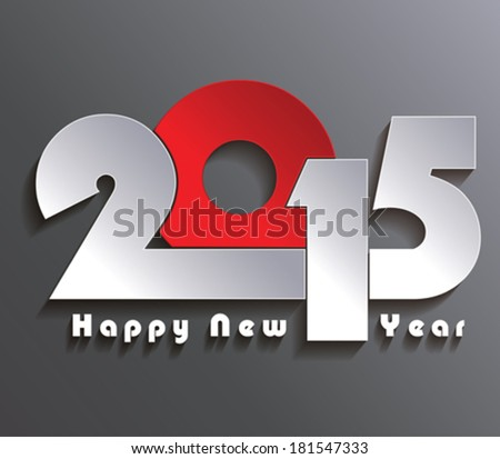 Happy new year 2015 creative greeting card design